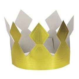 Corona Dorada de Cartón