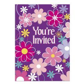 8 Invitaciones con Flores