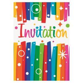 8 Invitaciones Coloridas