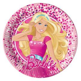 8 Platos Barbie de Cartón 20 cm