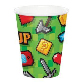 8 Vasos Videojuegos 266 ml