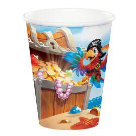 8 Vasos Tesoro Pirata 266 ml