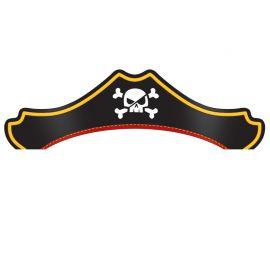 8 Gorros Tesoro Pirata