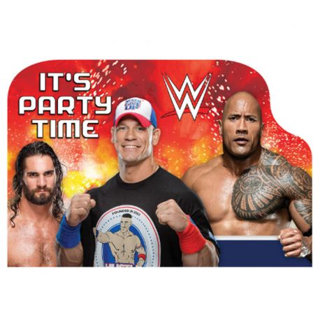 8 Invitaciones WWE