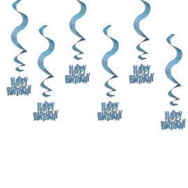 6 Colgantes Happy Birthday