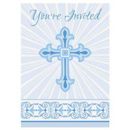 8 Invitaciones Comunión Cruz Azul