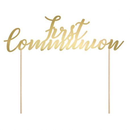 Topper First Communion Dorado