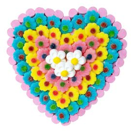 Tarta de Chuches Corazón de Flores 600 grs