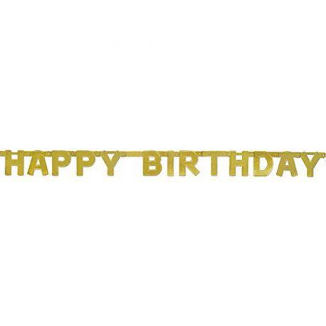 Guirnalda Happy Birthday Metalizada