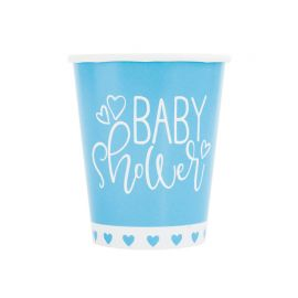8 Vasos Baby Shower Niño 266 ml