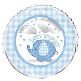 Globo Baby Shower Elefante Niño Foil 46 cm