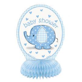 4 Minis Centros de Mesa Baby Shower Elefante Niño