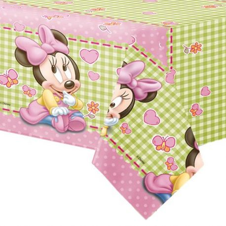 Mantel Plástico Baby Minnie 120 x 180 cm