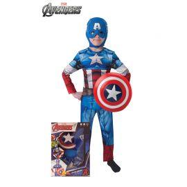 Disfraz de Capitán América con Escudo para Niños
