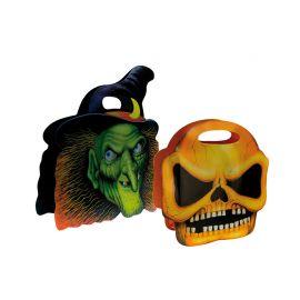 Bolsa de Caramelos Halloween Calavera o Bruja Surtida