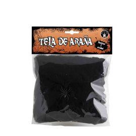 Mini Telaraña Negra Halloween