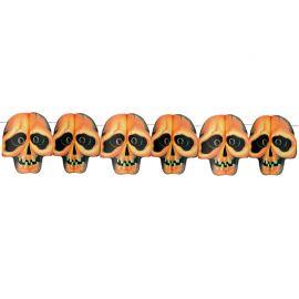 Guirnalda de Calavera Impresa Halloween