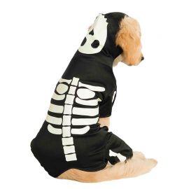Disfraz de Esqueleto Brilla en la Oscuridad Mascota