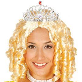 Corona Plateada con Diamantes