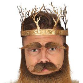 Corona para Rey Medieval de Oro Metálica