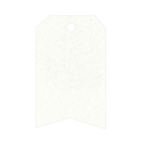 36 Tarjetas Blanca Esquinas Cortadas y Forma Flecha
