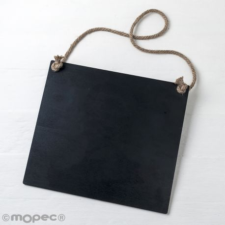 Pizarra Negra con Cordel 30 x 27 x 0,5cm