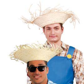 Sombrero con Flecos de Paja