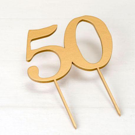Topper para Tarta 50 Aniversario