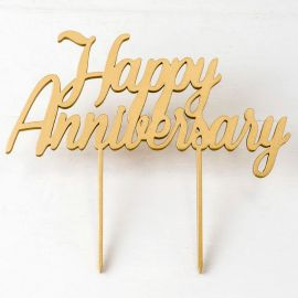 Topper para Tarta Happy Anniversary