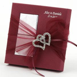 Broche Corazones Strass con 2 Chocolates