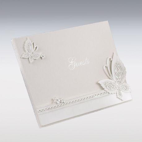 Libro de Firmas Mariposa 23 cm x19 cm