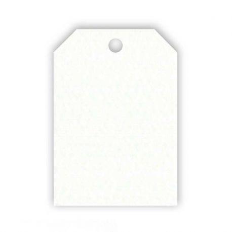 50 Tarjetas Forma Rectangular Blanca 2,7 cm X 4 cm