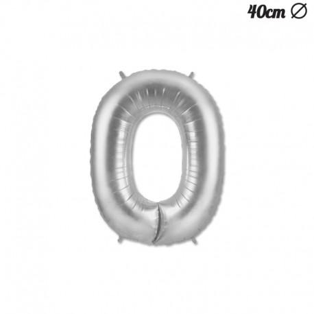 Globo Numero 0 Foil 40 cm