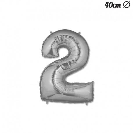Globo Numero 2 Foil 40 cm