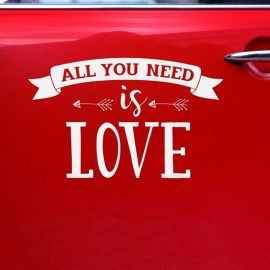 Pegatina All You Need is Love 33 cm x 45 cm
