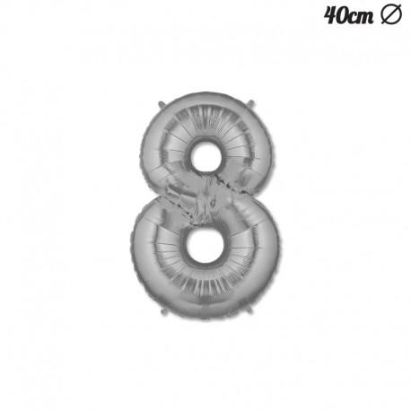 Globo Numero 8 Foil 40 cm