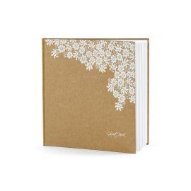 Libro de Firmas Kraft Decorado con Flores