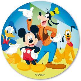 6 Obleas de Mickey Mouse & CO 20 cm