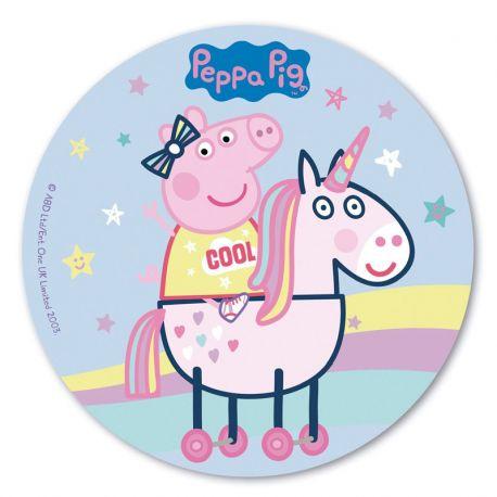 6 Obleas Peppa Pig 20 cm