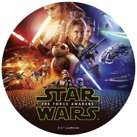 6 Discos Comestibles de Star Wars 20 cm
