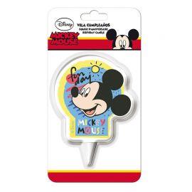 Vela de Cumpleaños Mickey Mouse 2D