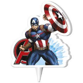 12 Velas Capitán América 7,5 cm 2D