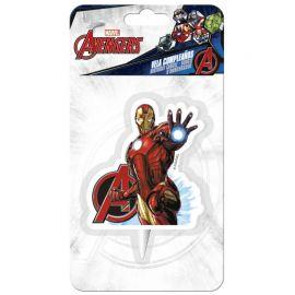 12 Velas Iron Man 7,5 cm 2D