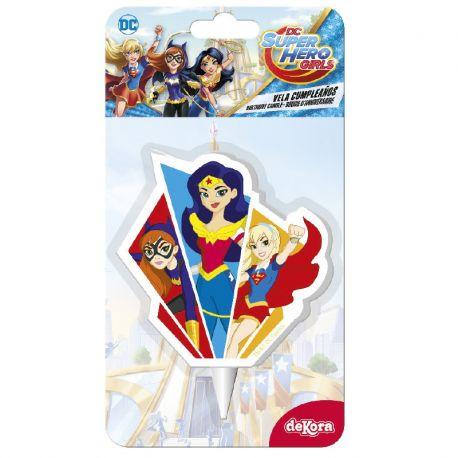 12 Velas Super Girls 7,5 cm 2D