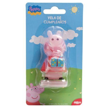 6 Velas Vela Peppa Pig 7,5 cm