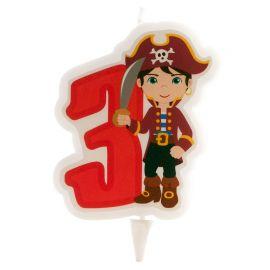Velas de Piratas Nº3 de 7 cm 2D