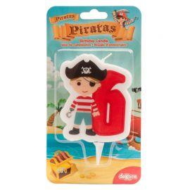 Velas de Piratas Nº6 de 7 cm 2D
