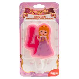 Vela de Princesas Nº4 de 7 cm 2D