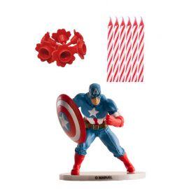 Pack de Velas Capitán América para Pastel
