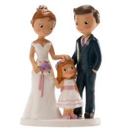 Muñecos de Boda con Niña 16 cm